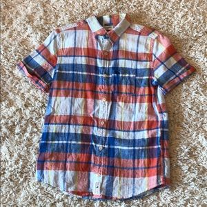 Abercrombie Boys Short Sleeved Button Down